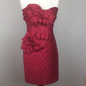 🔥 Neiman's Phoebe Couture Red Cocktail Dress